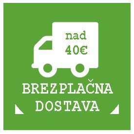Brezplačna poštnina nad 40€ (Samo za Slovenijo)